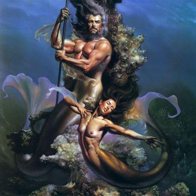 BV 1995 mermaid couple