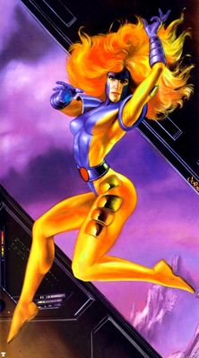JB 1995 jean grey in the danger room