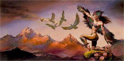 BV 1998 bird woman