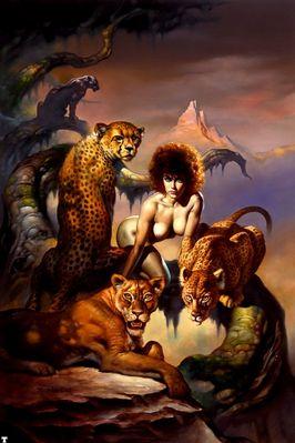 bv87 014 ofn Boris Vallejo Mistress Of The Cats