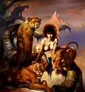 bv87 014 ofn Boris Vallejo Mistress Of The Cats