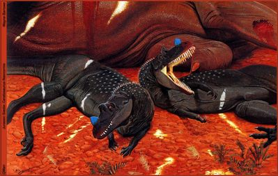 QMan WB TALOWB 1327 Jurassic Siesta Ceratosaurus Nasicornis