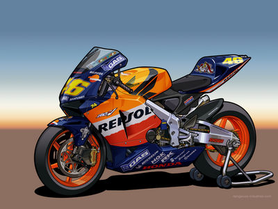 Honda RC211V   Vector by dangeruss