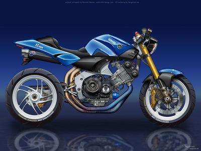 Yamaha FZ1000 Concept by dangeruss
