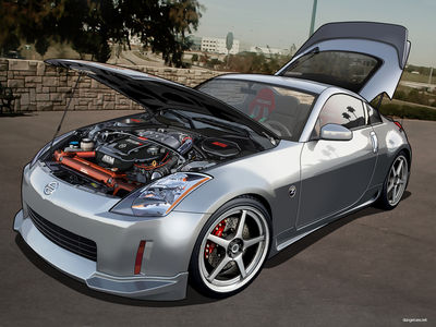 Nissan 350Z Hood UP   Clean by dangeruss