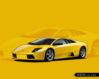 Lamborghini Murcielago Vector by Namelessv1
