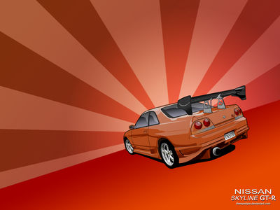 Nissan Skyline GT R Toon Wall by TheNyoStyle