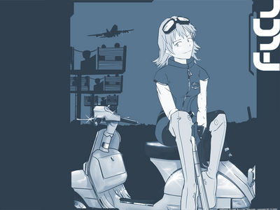 FLCL   Vespa Girl Wallpaper