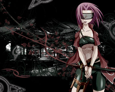 Sakura Haruno stands tied up in her sword (anime Naruto wallpaper 1280x1024)