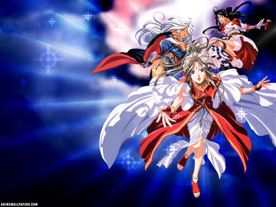 Wallpaper   Anime   Oh My Goddess   Three Goddesses Blue