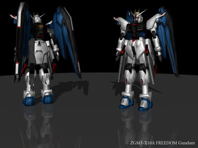 Freedom Gundam   Rendered