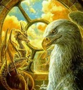 Gold dragon with griffin (1)