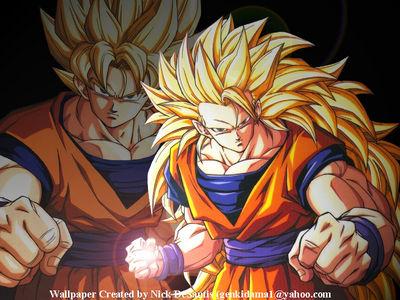 DBZ wp 003  SS1   SS3 Goku