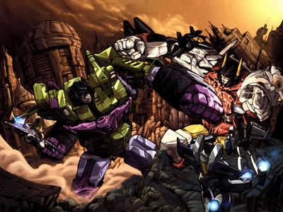 wallpaper   transformers giants fighting