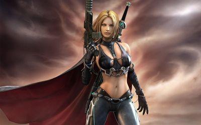 cg girl with a gun 8370 1280x800
