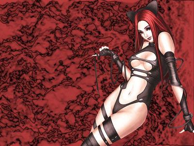 Catgirl bondage style