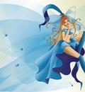 blue vector angel