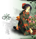 girl flower