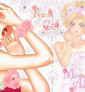 Peach girl flower wallppr