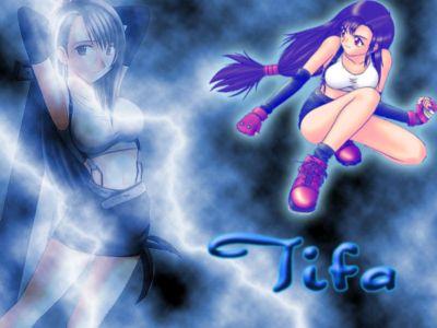 Tifa with lightning
