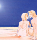 Rei and Kira on the Beach