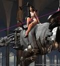 Wallpaper   Woman On Robot Dinosaur