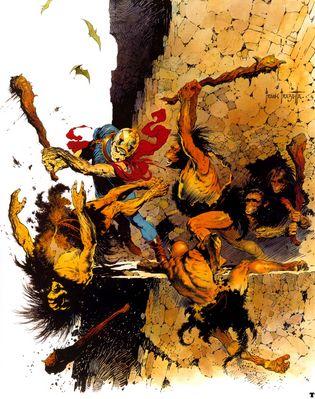 frank frazetta battle