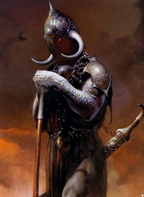 frank frazetta death dealer III detail