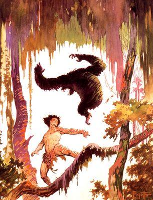 frank frazetta jungletalesoftarzan