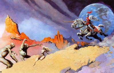 frank frazetta moon rider