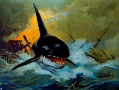 frank frazetta orcakillerwhale