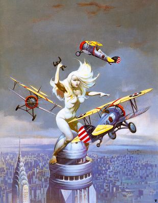 frank frazetta queenkong