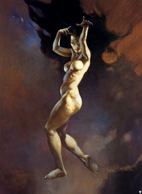 frank frazetta sorceress