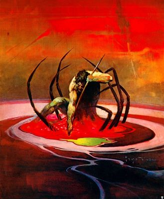 frank frazetta spiderman