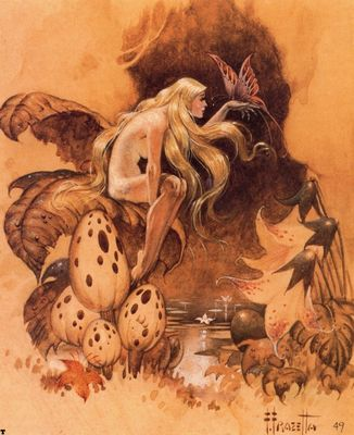 frank frazetta spirit of the forest
