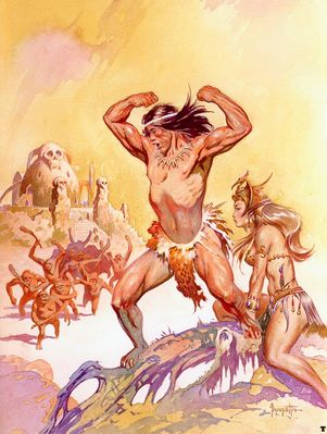 frank frazetta tarzantheinvincible