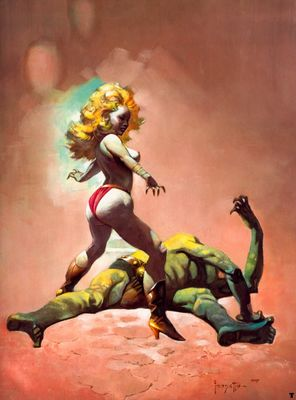 frank frazetta thecountessandthegreenman