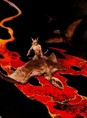 frank frazetta thorsflight