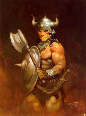 frank frazetta warrior