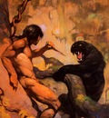 frank frazetta blackpanther