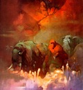 frank frazetta downwardtotheearth