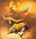 frank frazetta flyingreptiles