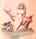 frank frazetta girlbathing