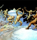frank frazetta leaping lizards