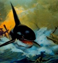 frank frazetta orcakillerwhale