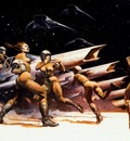 frank frazetta space104attack