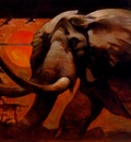 frank frazetta theafricanelephant