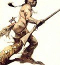 frank frazetta theindianbrave