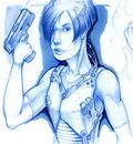 Blue Gun Girl