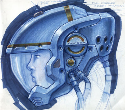 Blue Space Helmet